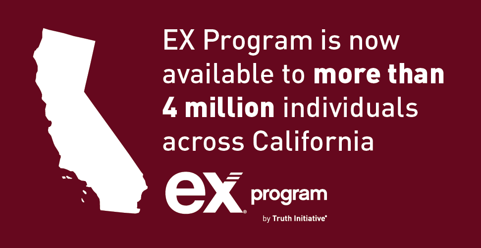 Graphic showing EX Program available to over 4 million people in California
