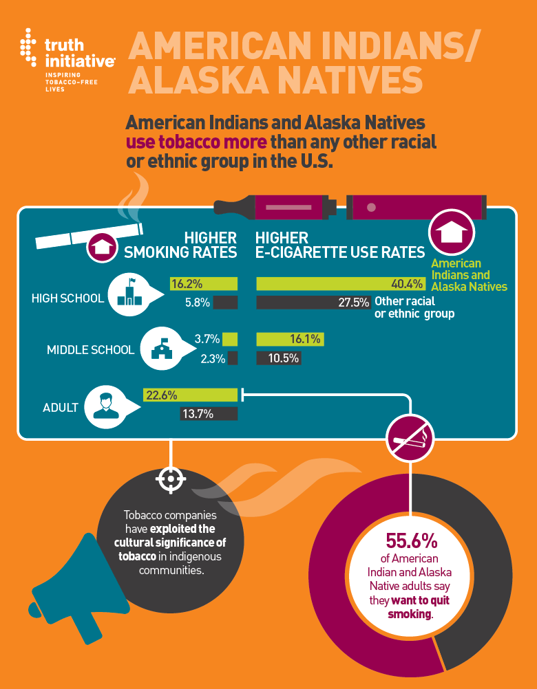 American Indian and Alaska Natives Fact Sheet Infographic