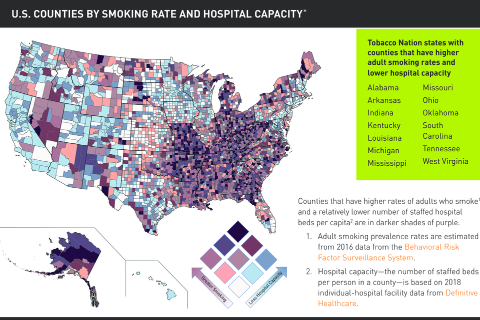 Tobacco Nation Hospital Map