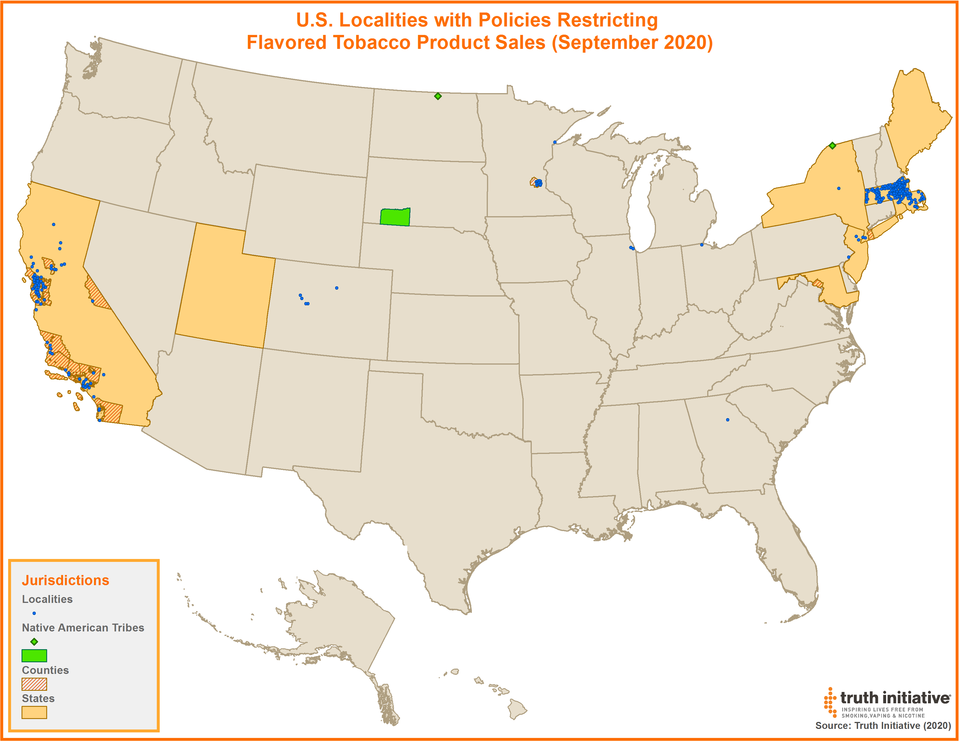 Flavors Policy Map September 2020