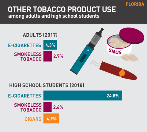 Other tobacco product use in Florida graphic