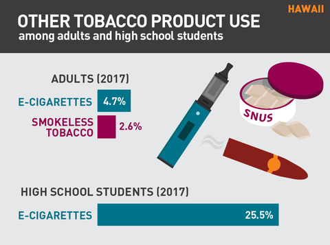 Other tobacco product use in Hawaii graphic