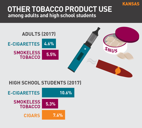 Other tobacco product use in Kansas graphic