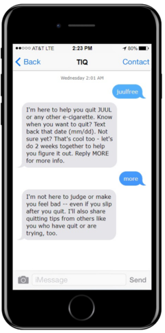 Quitting e-cigarettes