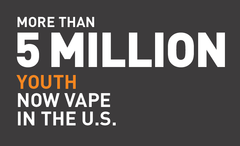 5 million youth now vape in the US