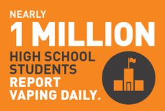 1 million high school students report vaping daily image