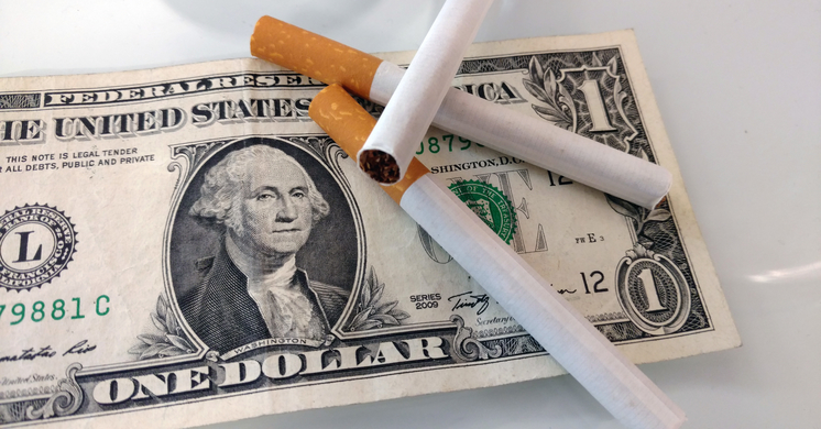 cigarettes and dollar