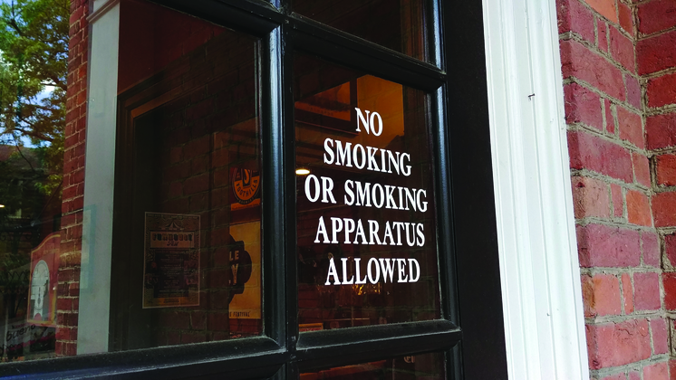 No smoking or smoking apparatus allowed