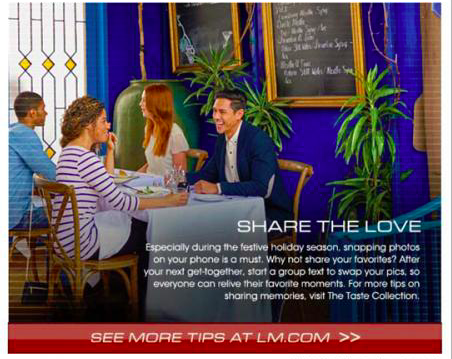 Share the love L&M ad
