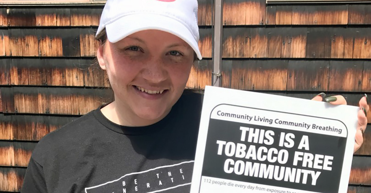 Katelynd Todd this is a tobacco free community