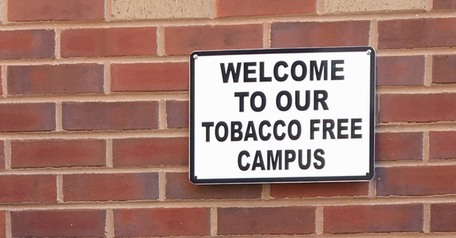 welcome to our tobacco free campus finish flavors