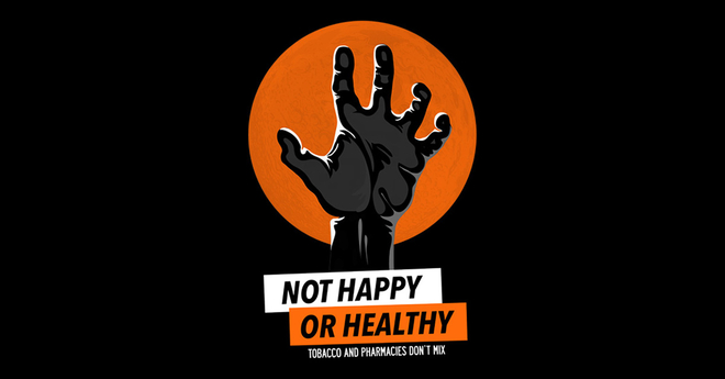 zombie not happy or healthy