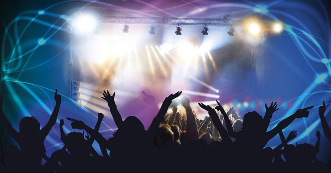 Experiential concert crowd