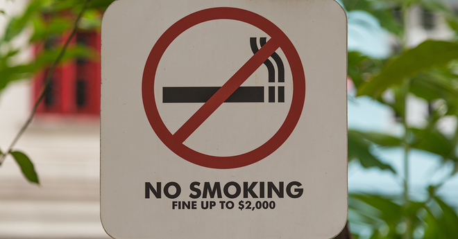 No Smoking, Fine up to $2000
