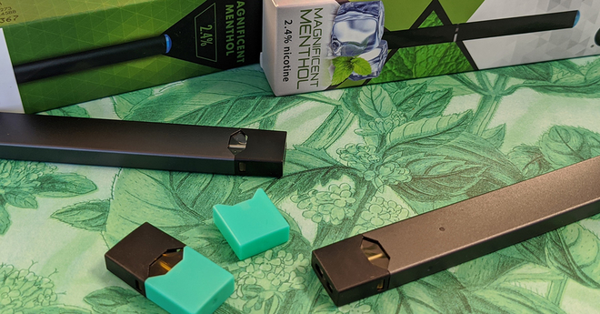 Mint and Menthol flavored e-cigarettes