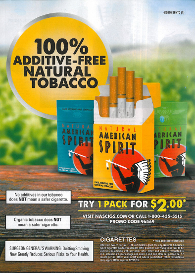 American Spirit 2 dollar coupon