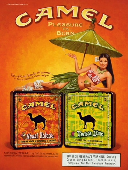 Camel Kauai Kolada and Twista Lime ad