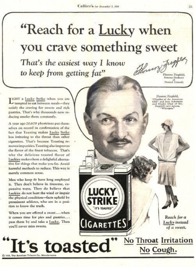 Lucky strike ad