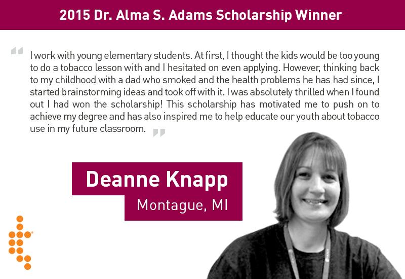scholarship winner deanne knapp