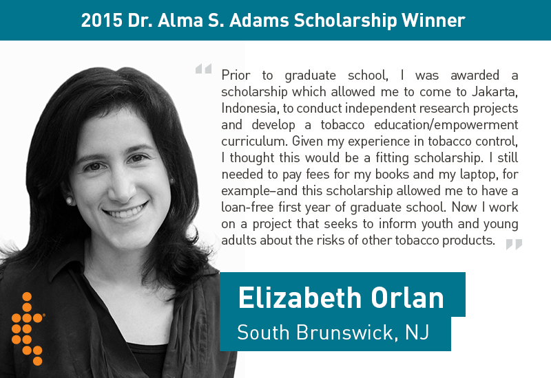 scholarship winner elizabeth orlan