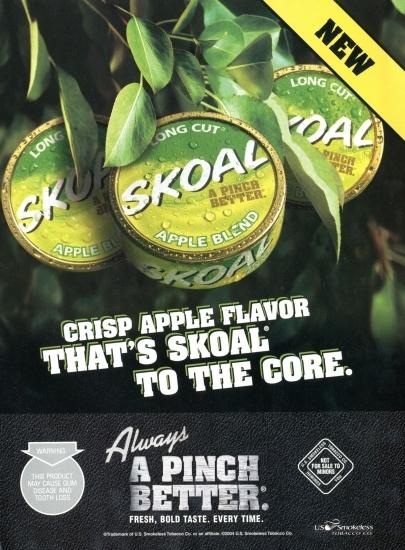 Skoal apple blend ad
