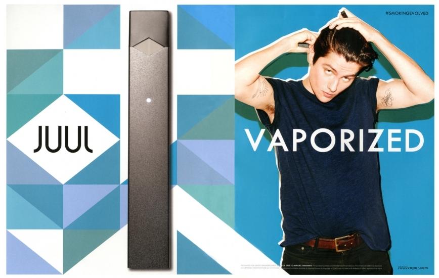 JUUL vaporized ad