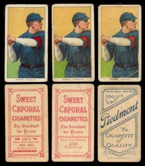 Baseball cards cigarettes