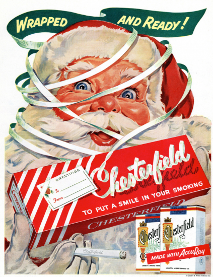 Santa Chesterfield ad