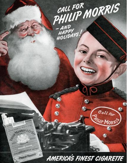 Santa Philip Morris ad