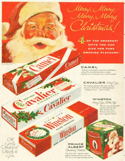 Santa Camel Cavalier Winston Prince Albert ad