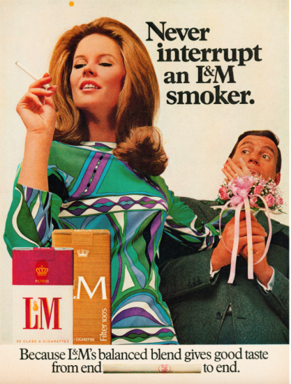 L&M Never interrupt an L&M smoker ad