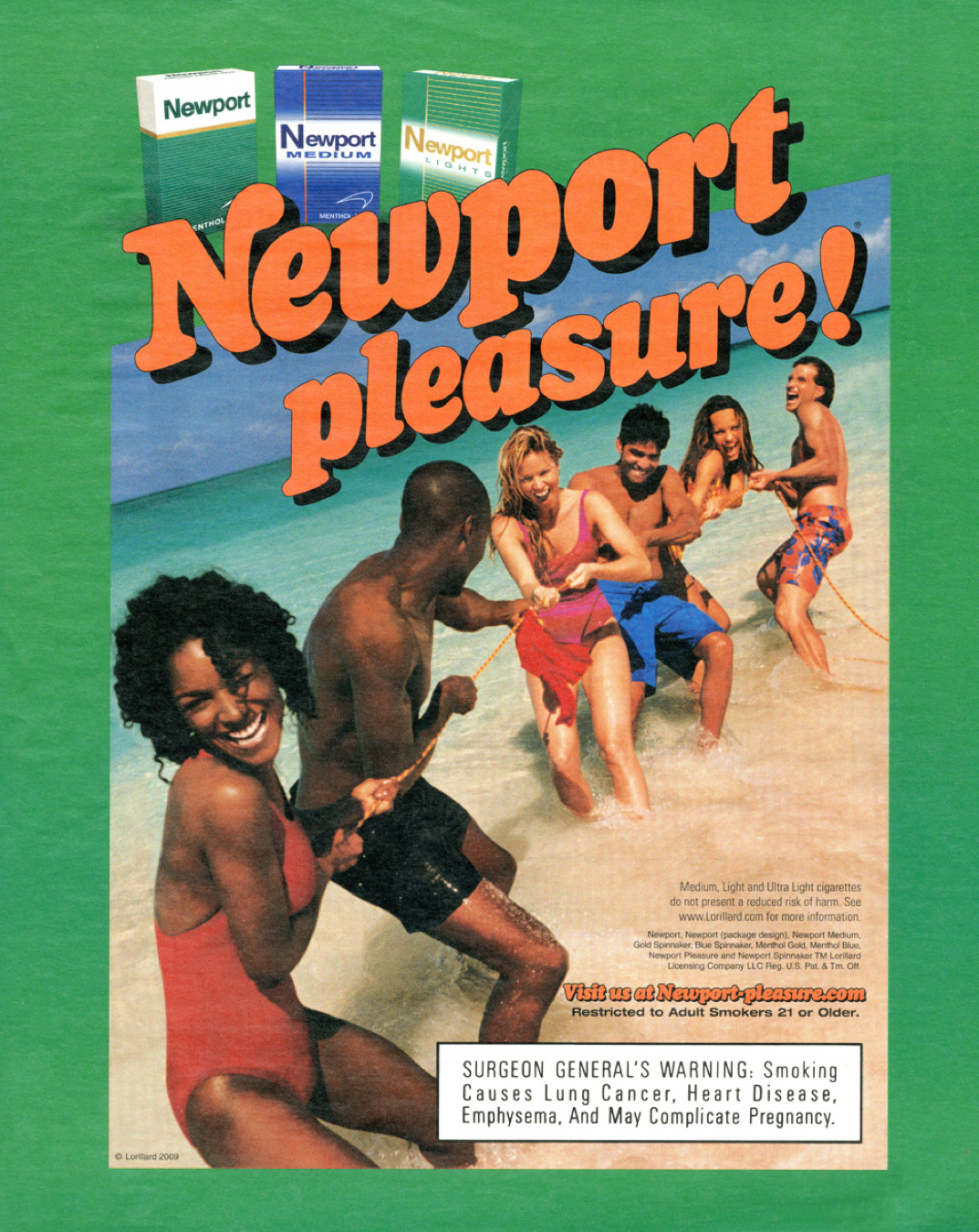 Newport pleasure ad