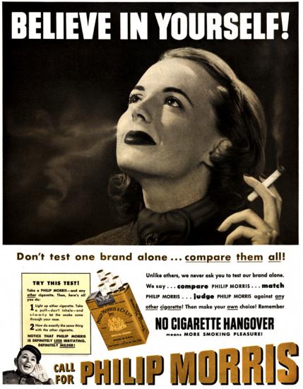 Philip Morris Believe in yourself ad