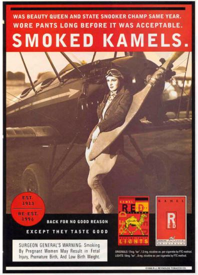 Smoked Kamels ad