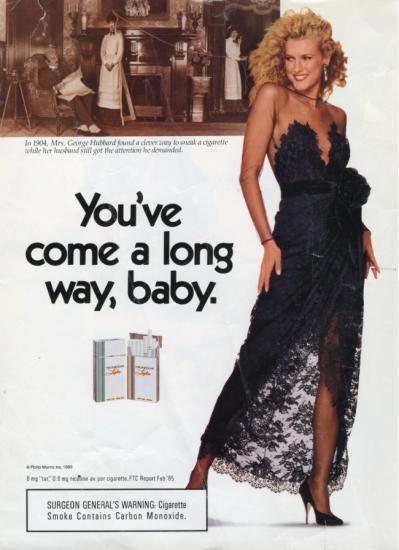 Virginia Slims You've Come a Long Way, baby ad
