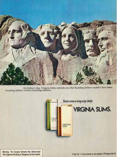 Virginia Slims Mount Rushmore ad