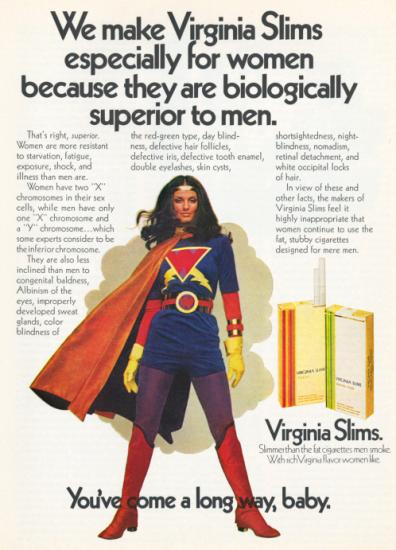 Virginia Slims Wonder Woman ad
