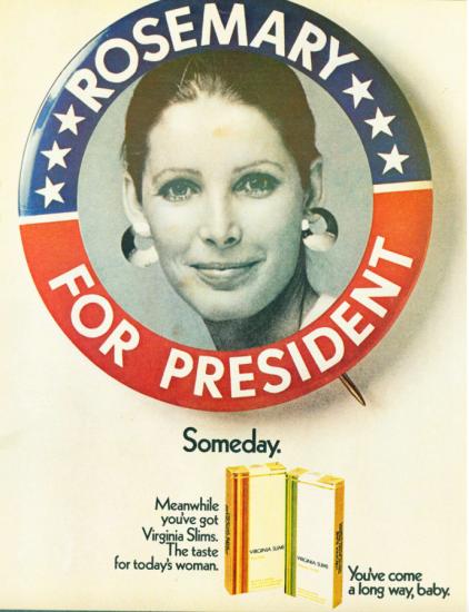 Virginia Slims Rosemary for President ad