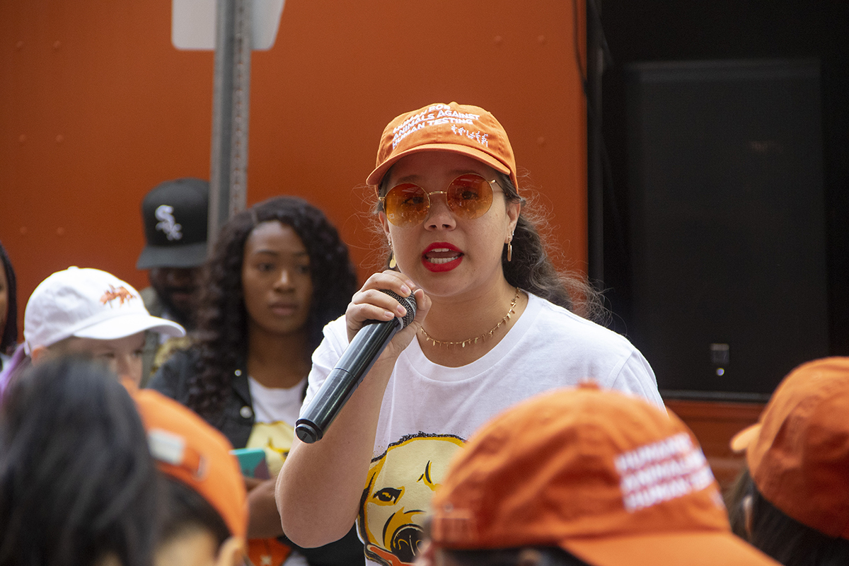 Speaker at National Day of Action Rally